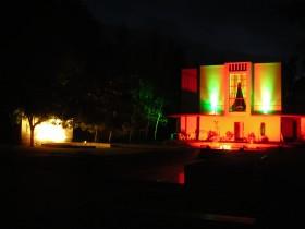 Haus Weinmann Außenansicht Nacht