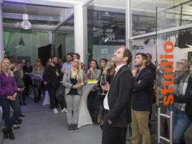 Mediahaus trifft auf Eventbühne. Foto: Andreas Kolarik, 29.11.16